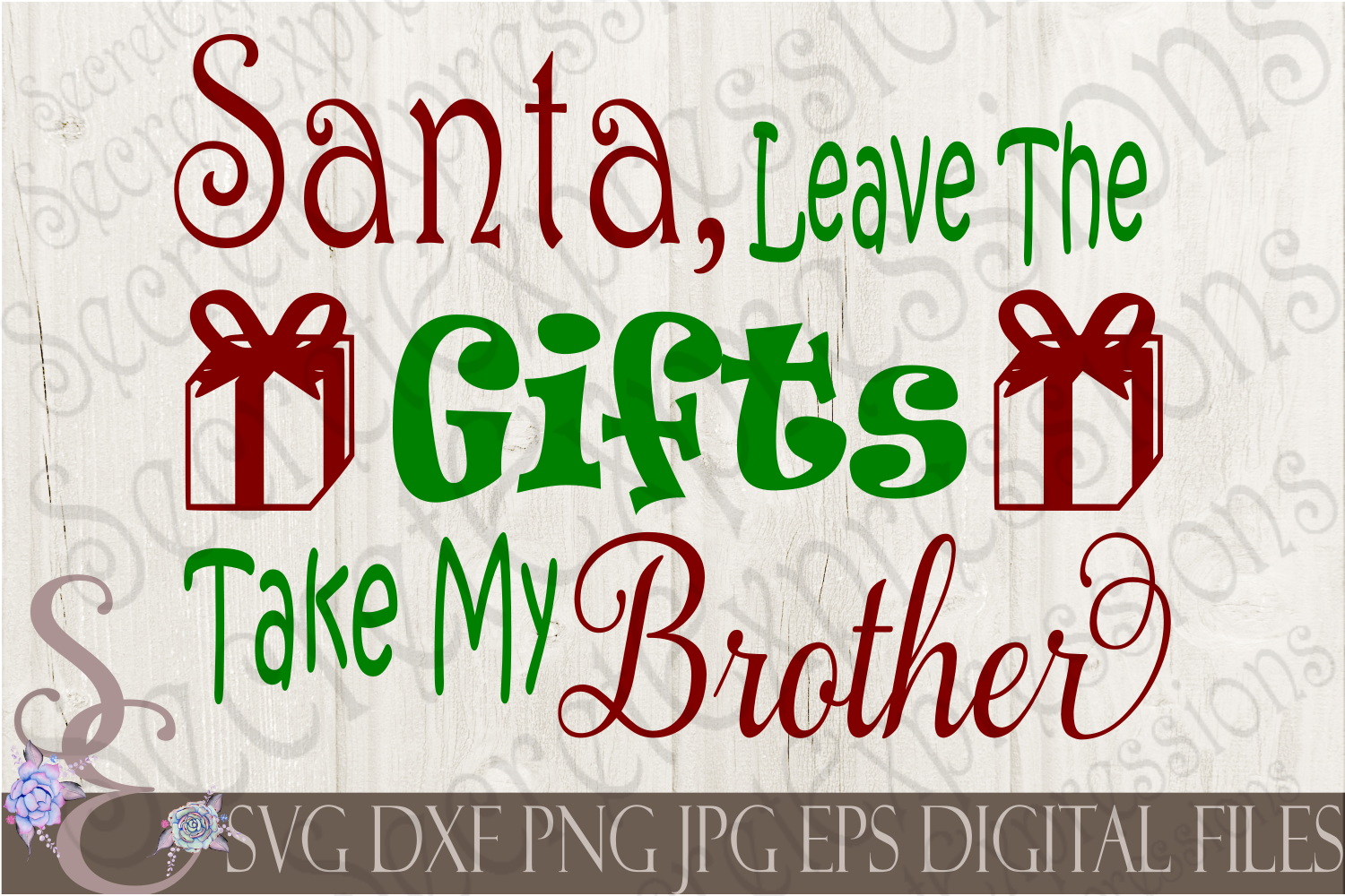 Kid Christmas SVG Bundle 9 Designs example image 9