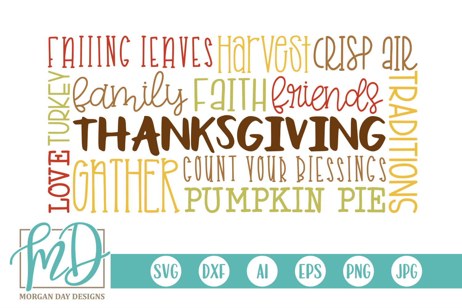 Fall - Autumn - Thanksgiving Subway Art SVG example image 1