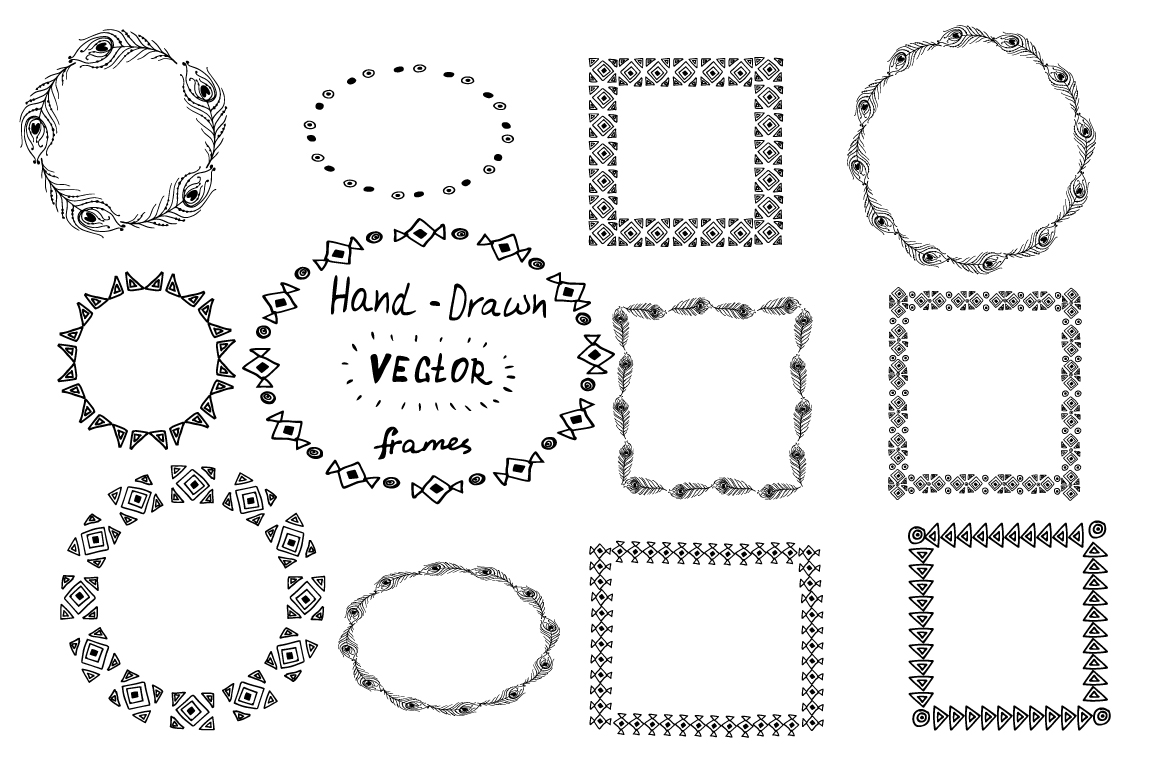 Hand-Drawn Ethnic Seamless Patterns example image 2
