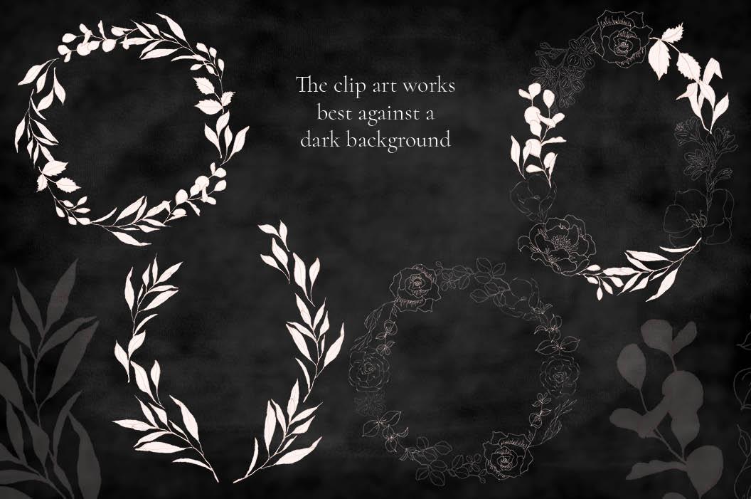 Blush foliage clip art bundle example image 3
