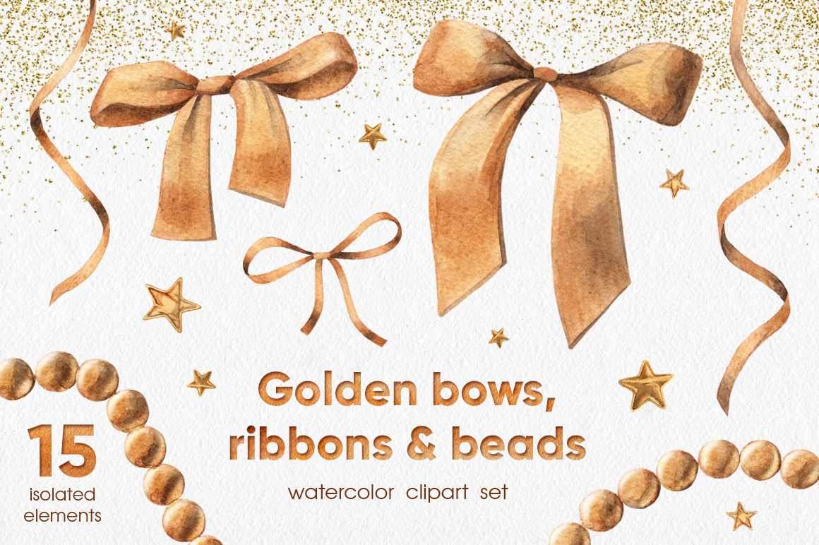 Golden Bows, Ribbons & Beads example image 1
