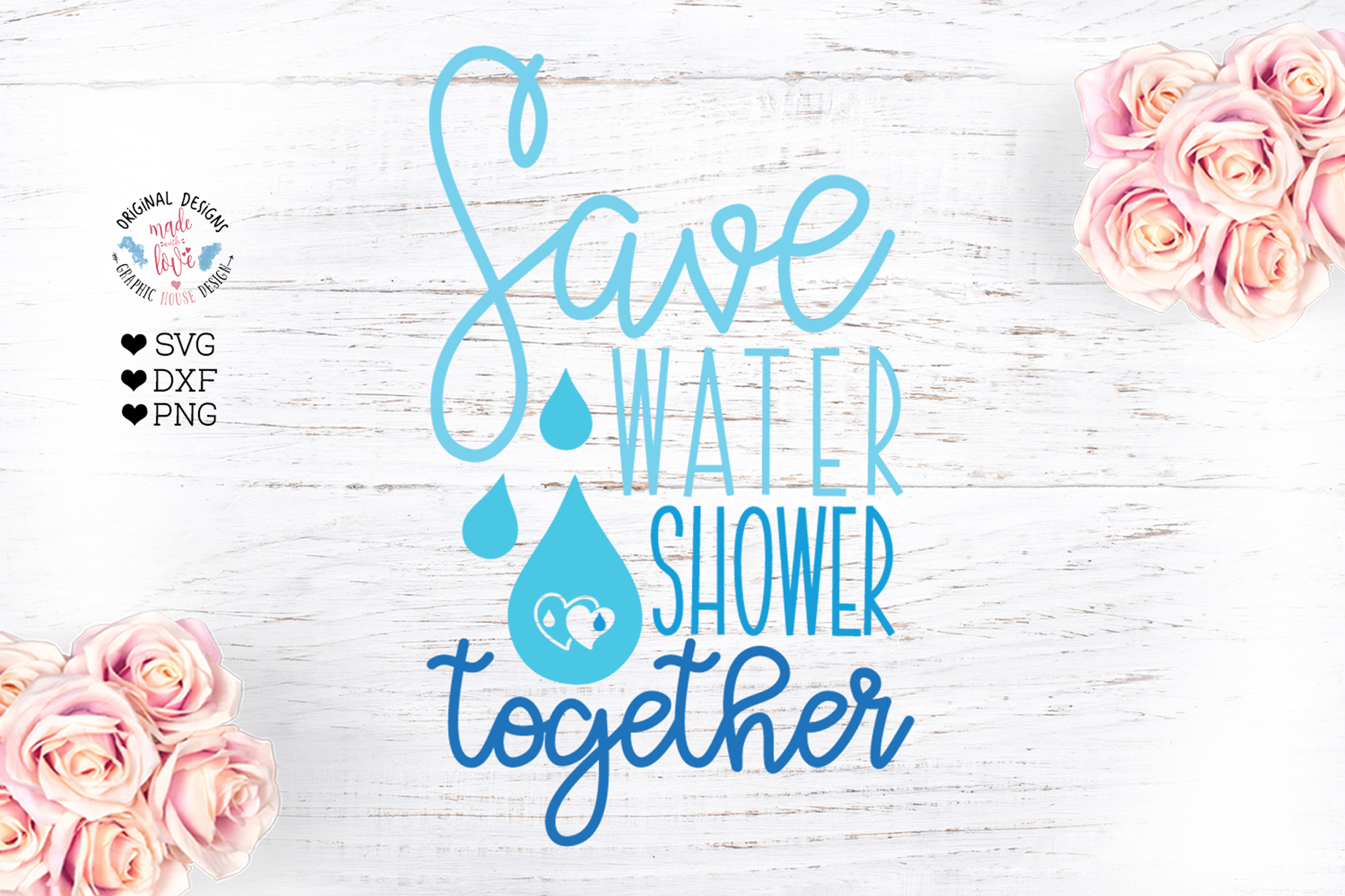 Save Water Shower Together example image 1