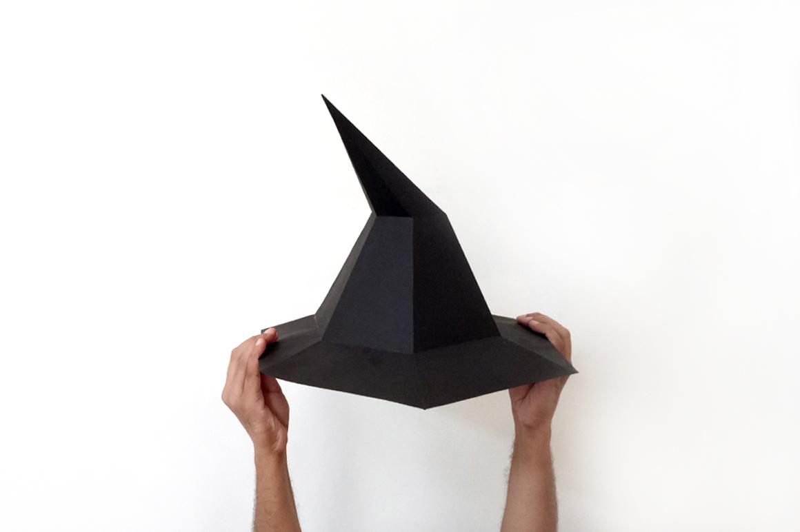 Diy Halloween Witch Hat 3d Papercraft 37179 Printables Design Bundles