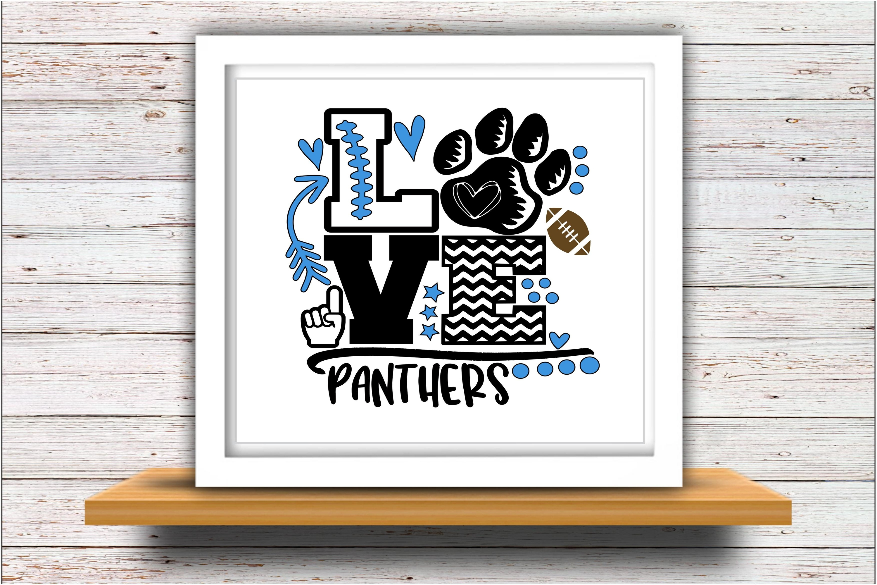 Football SVG DXF JPEG Silhouette Cameo Cricut panthers mom example image 2