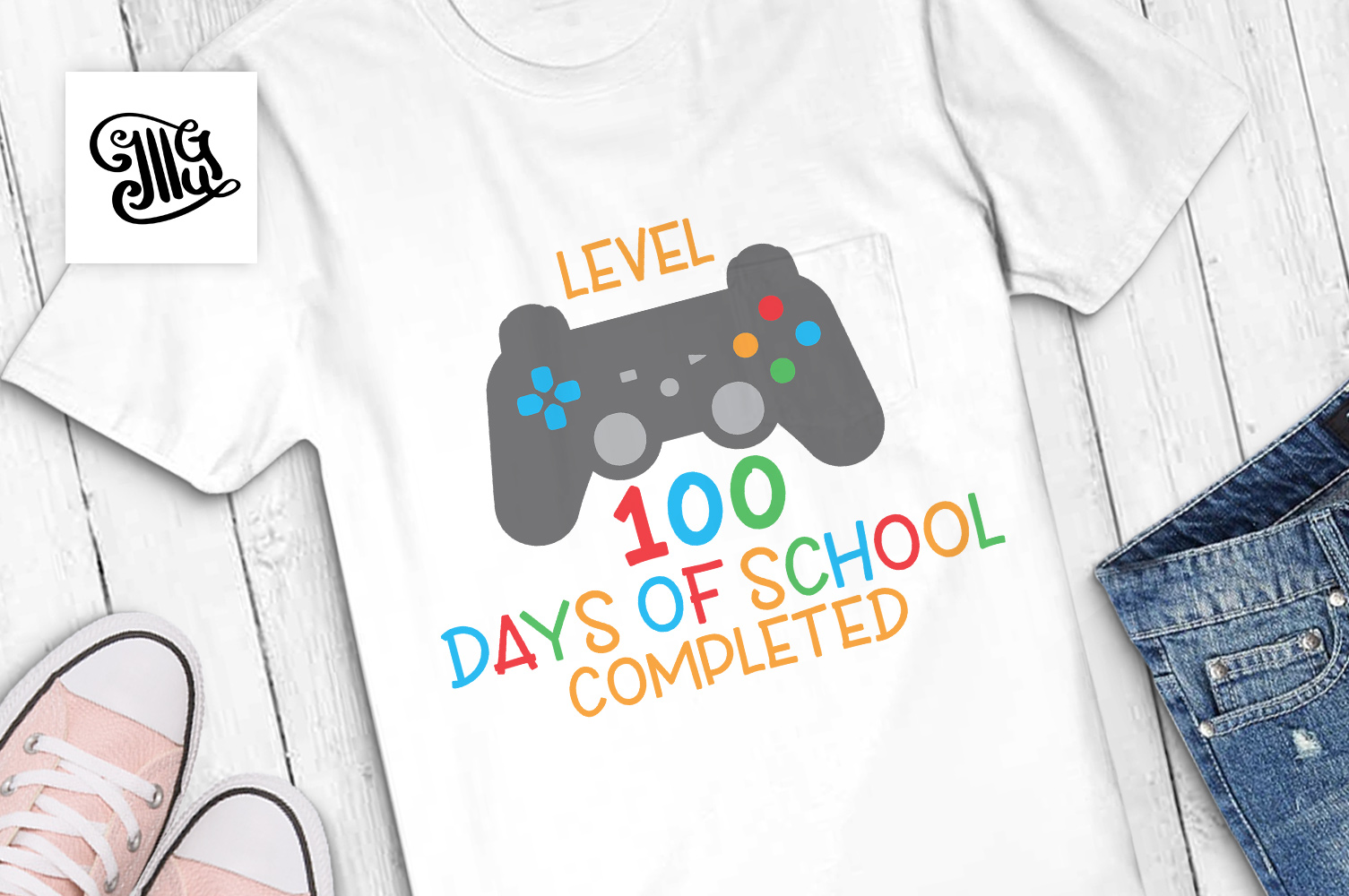 level 100 days of school completed svg example image 1