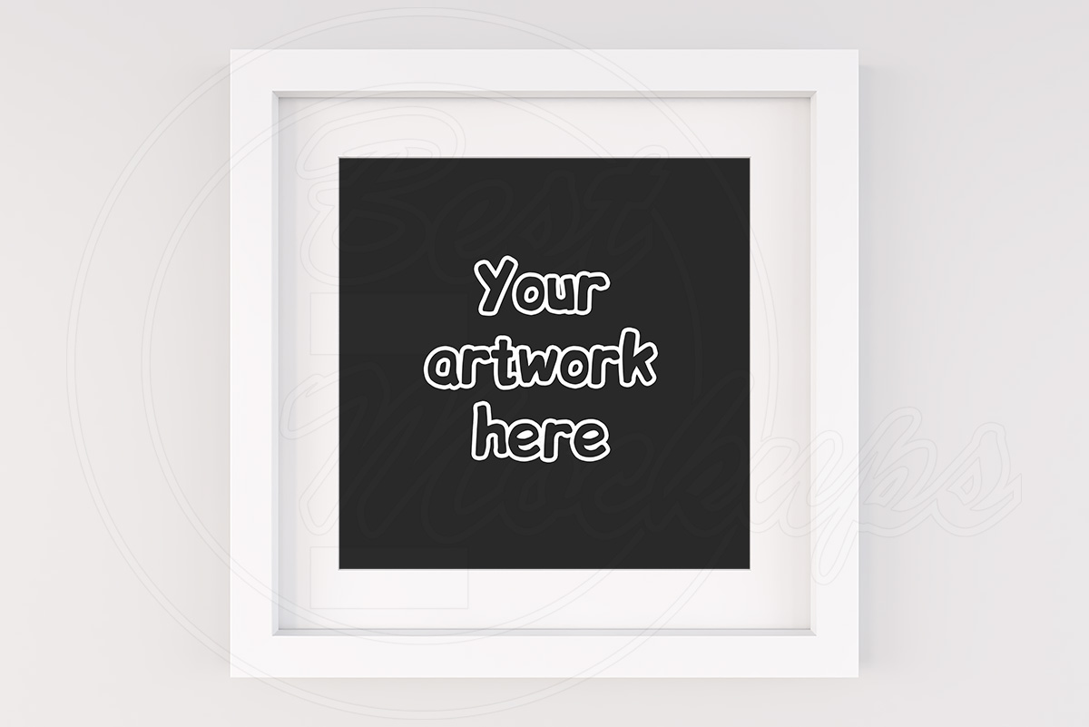 Modern square frame mockup art print example image 1