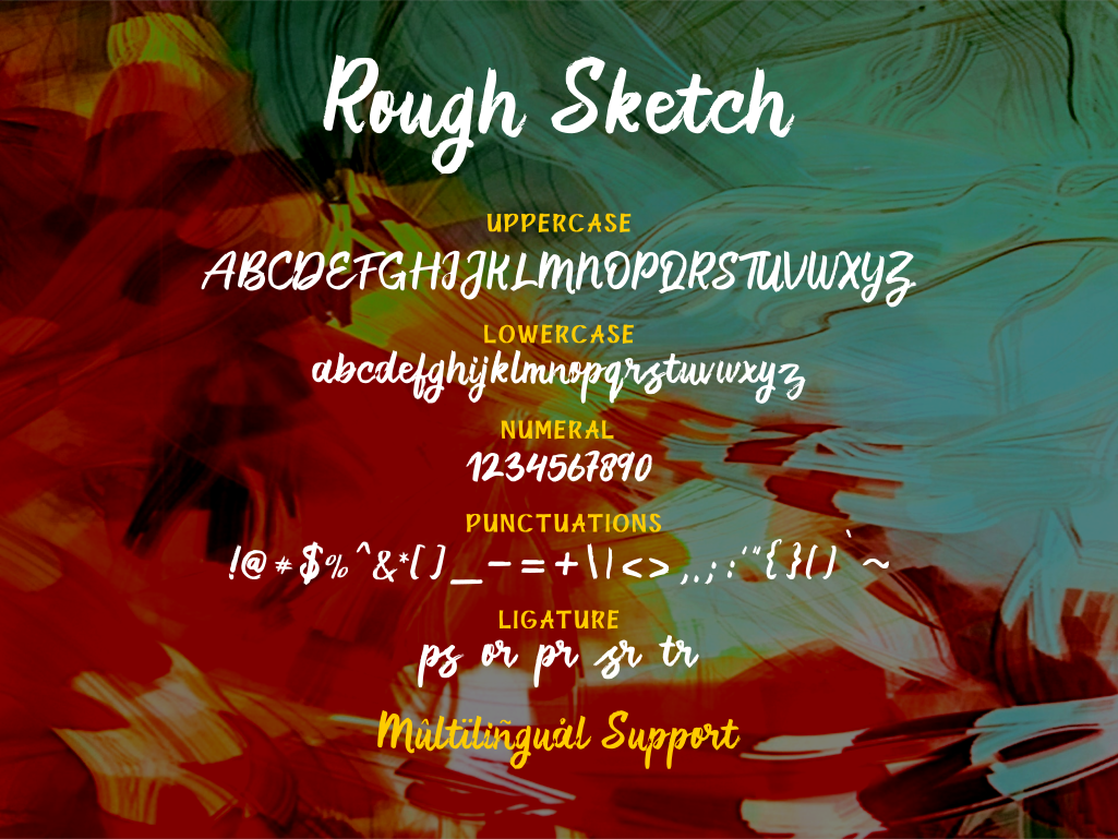 Rough Sketch - fonts duo example image 7