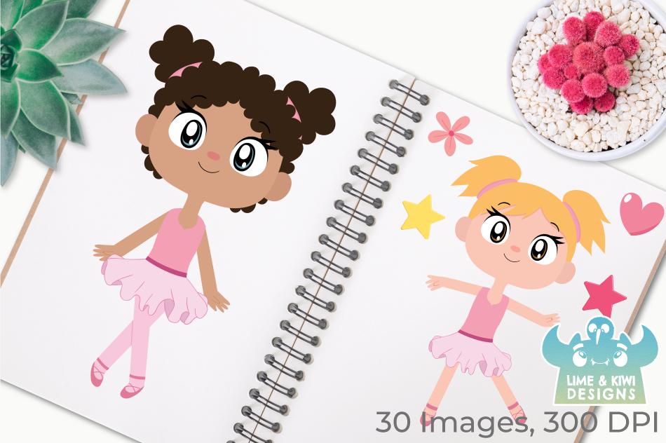 Ballerinas 1 Clipart, Instant Download Vector Art example image 3