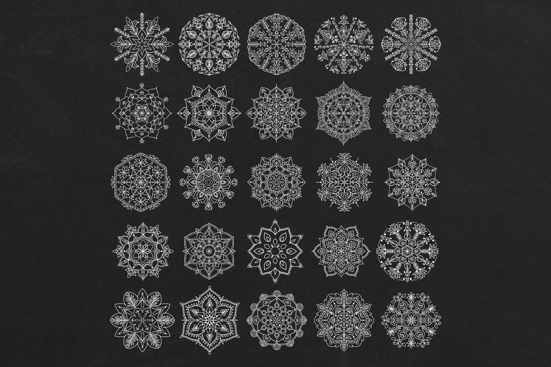 Handmade Floral Mandala Set of 25 example image 4