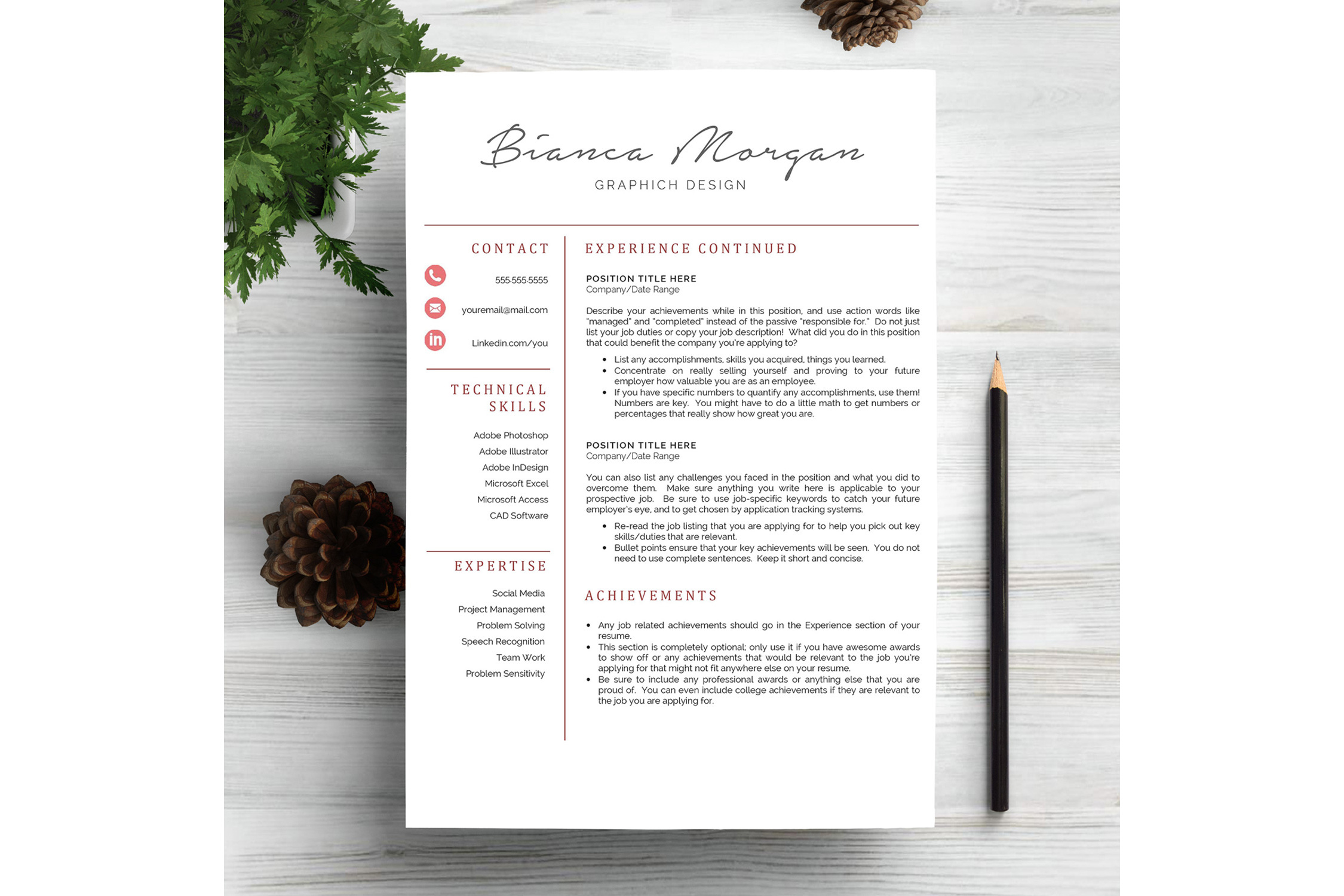 Creative Resume Template CV example image 2