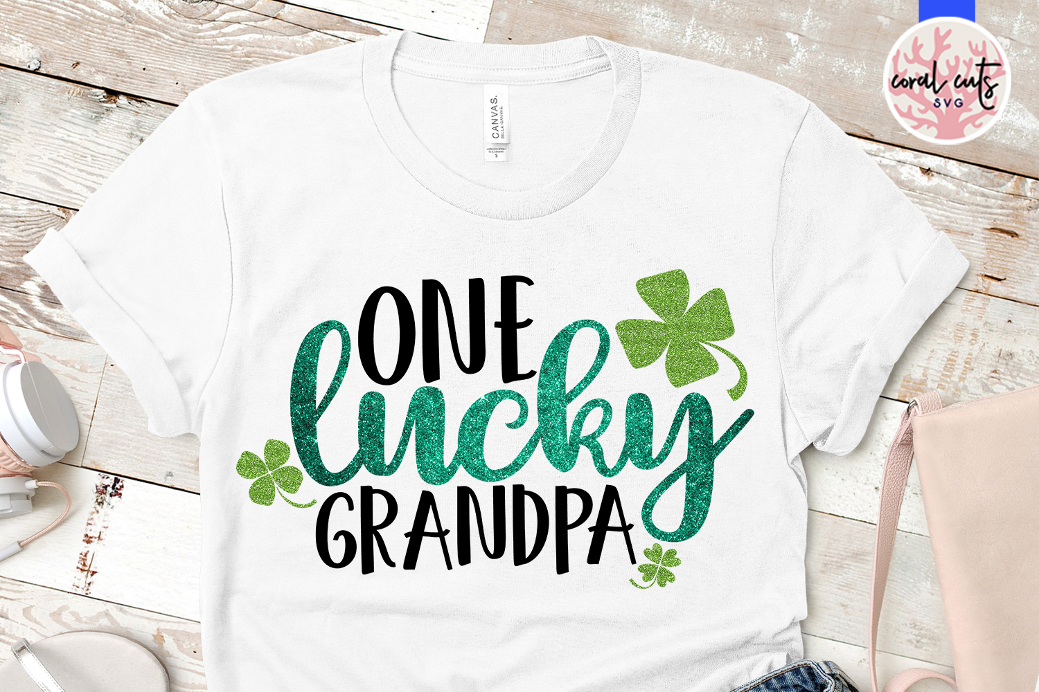 One lucky grandpa - St. Patrick's Day SVG EPS DXF PNG example image 2
