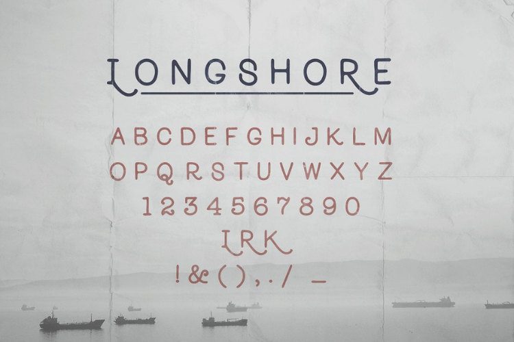 Longshore - Hand Drawn Font example image 4