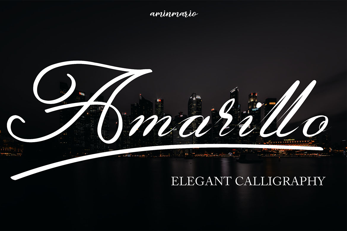 Amarillo | Elegant Calligraphy example image 9