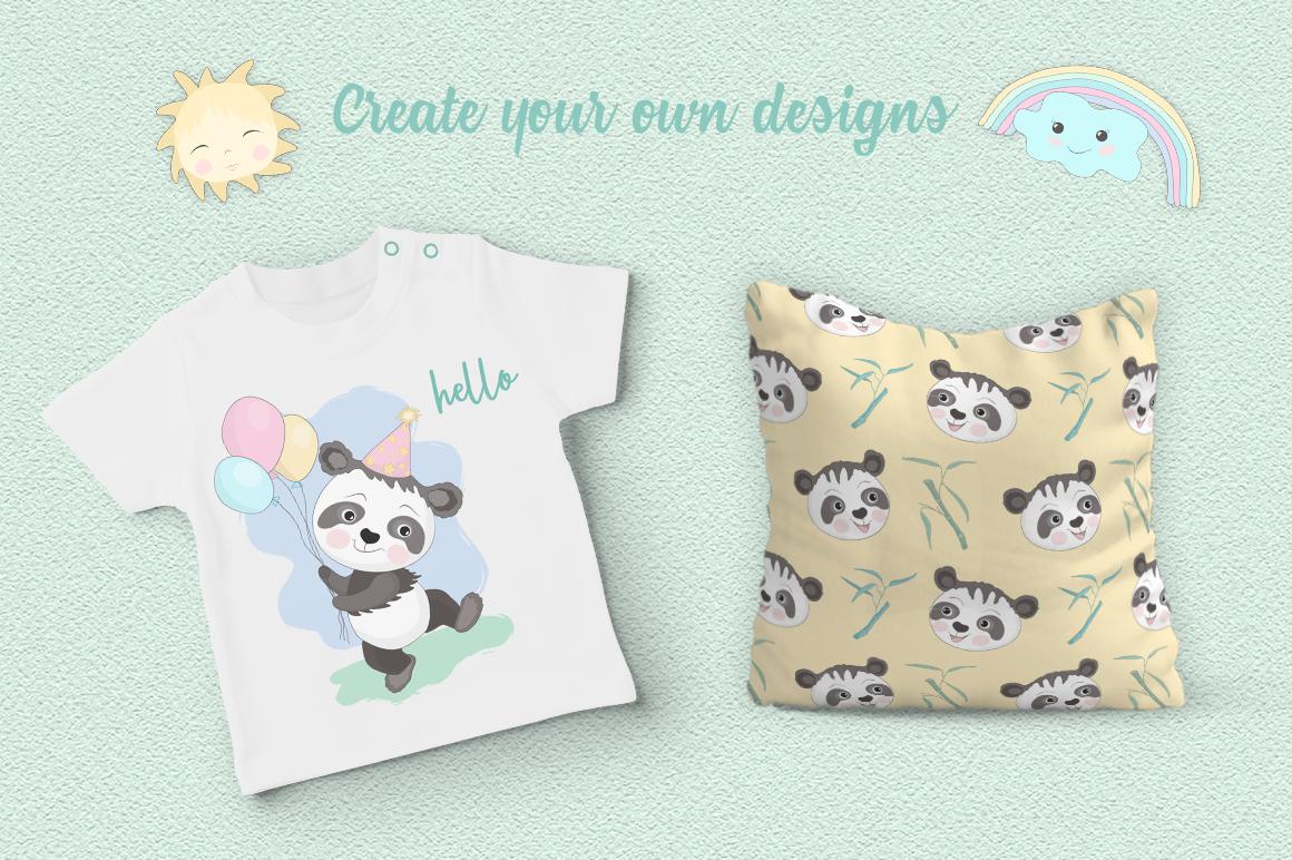Panda Party Illustration Set example image 5