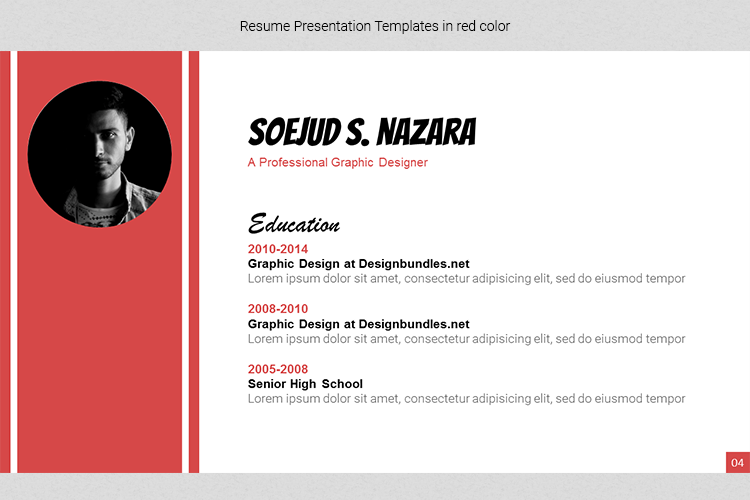A4 Resume Templates Word example image 21