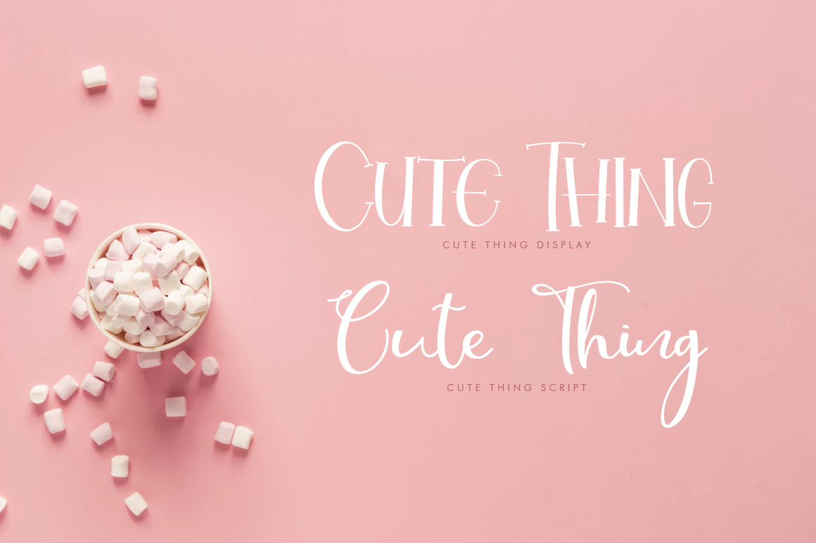 Cute Thing Font Duo example image 8
