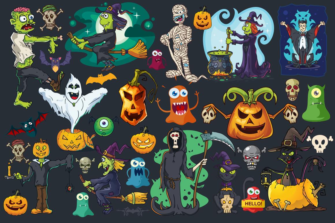 Cartoon Characters & Items Bundle example image 7