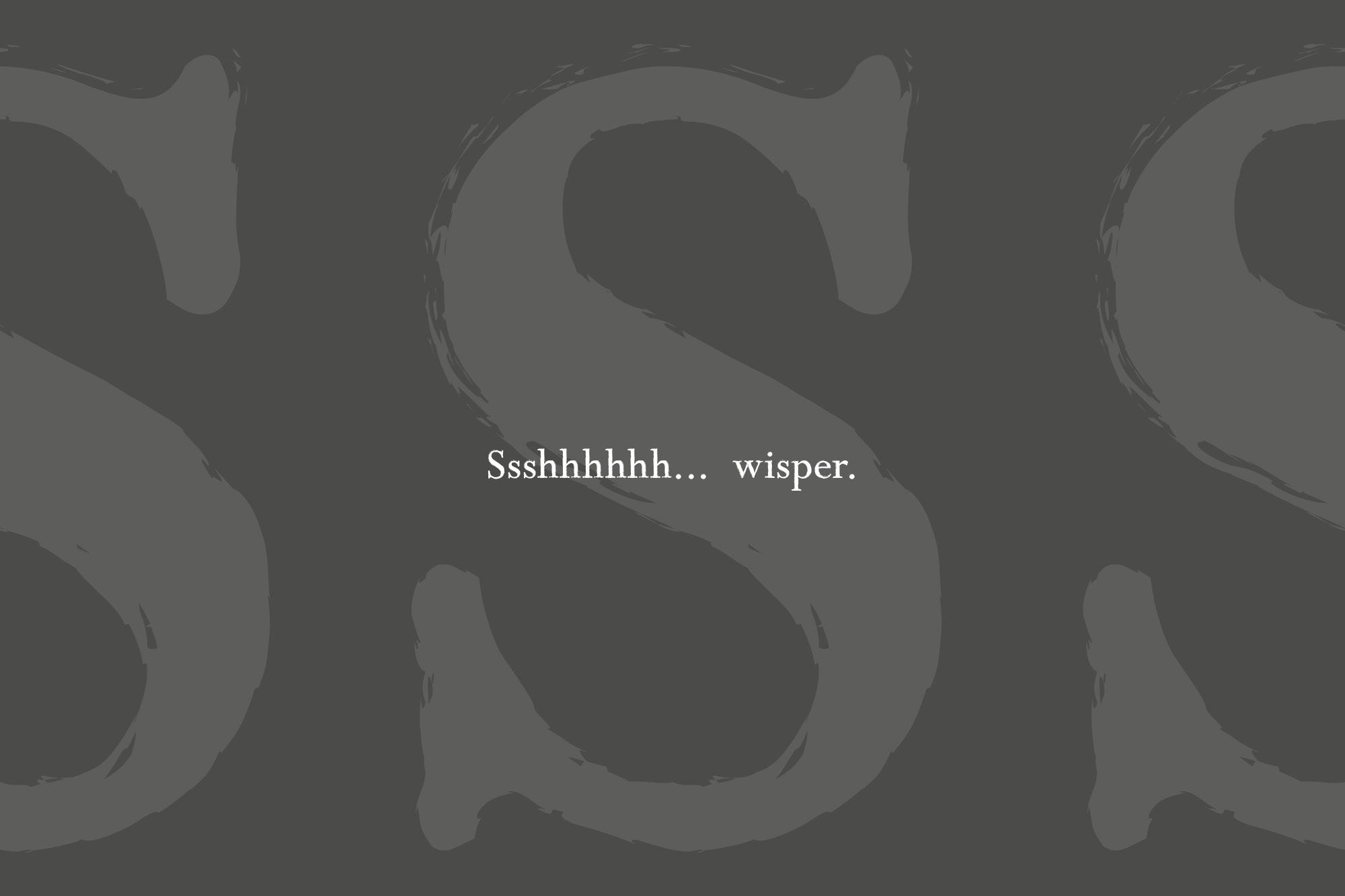 Wisper - a distressed serif font example image 8