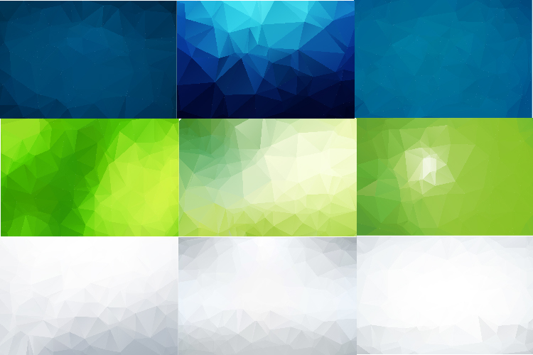 50 IN 1 LOW POLY BACKGROUND BUNDLE 5 COLOR VARIATIONS VECTOR example image 3