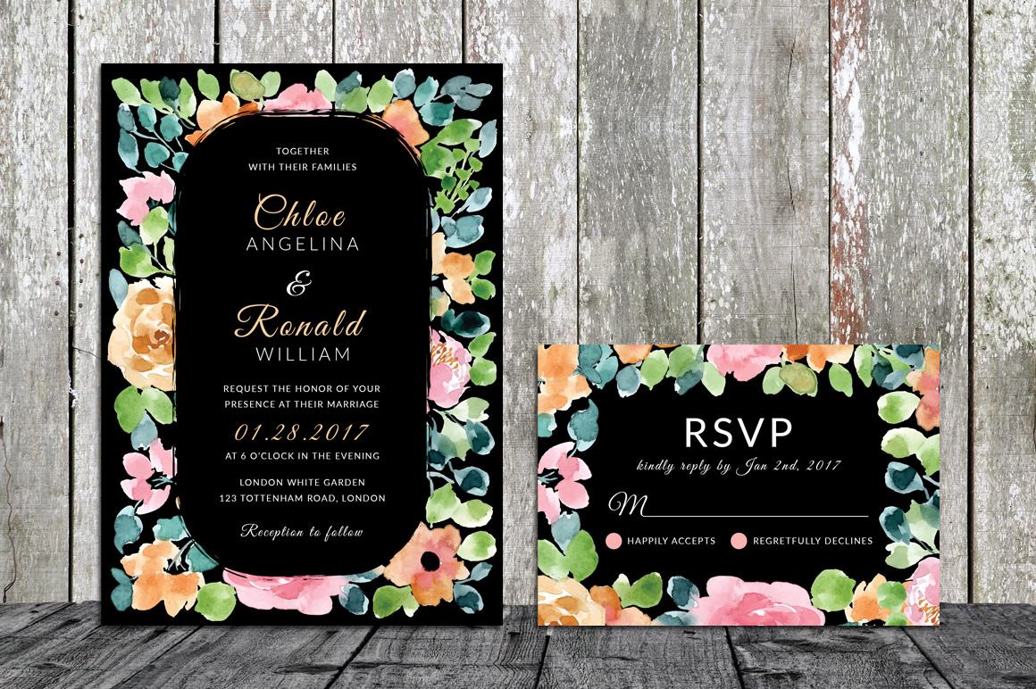 Gardenia - Wedding Invitation & RSVP example image 4