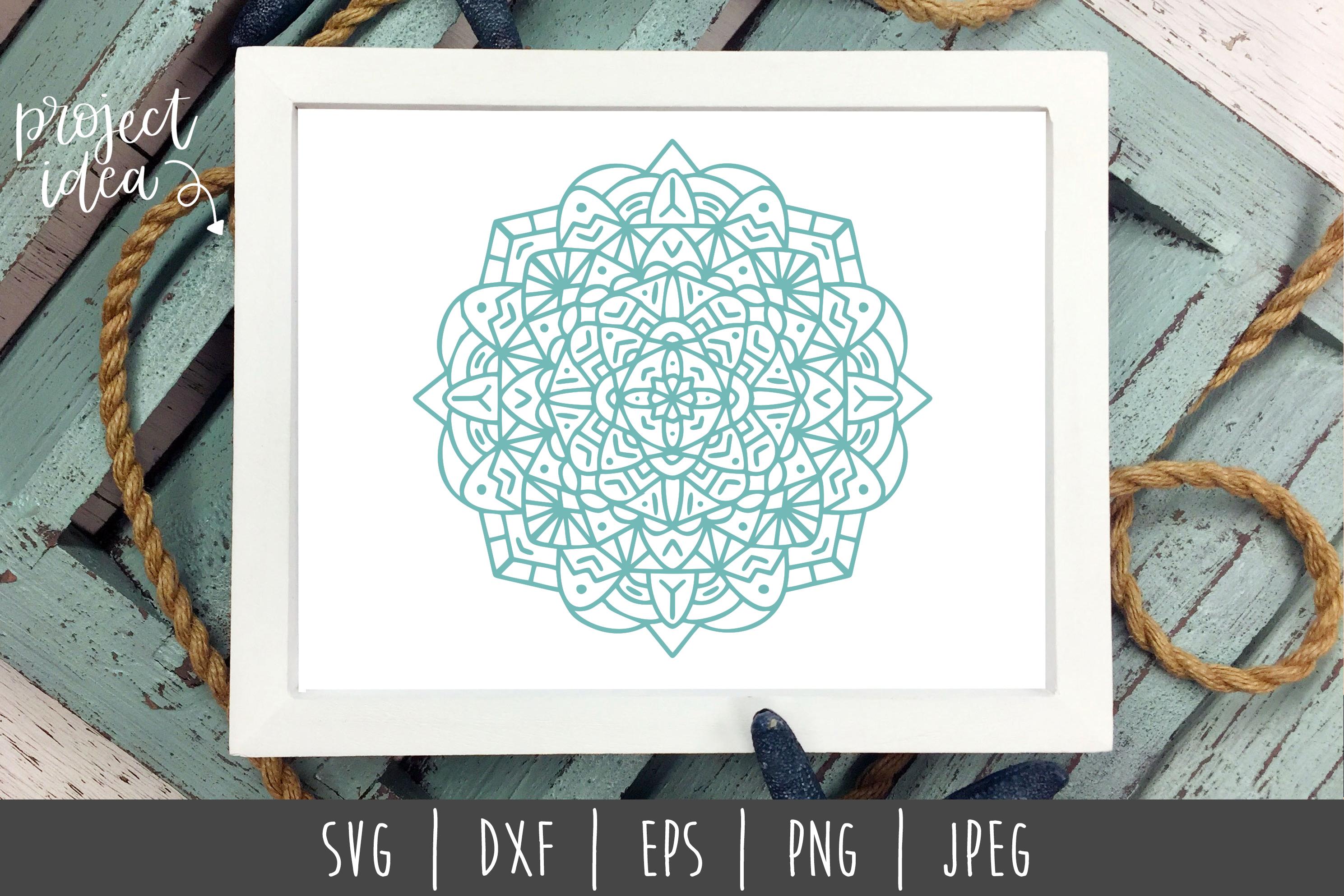 Mandala SVG, DXF, EPS, PNG, JPEG example image 2