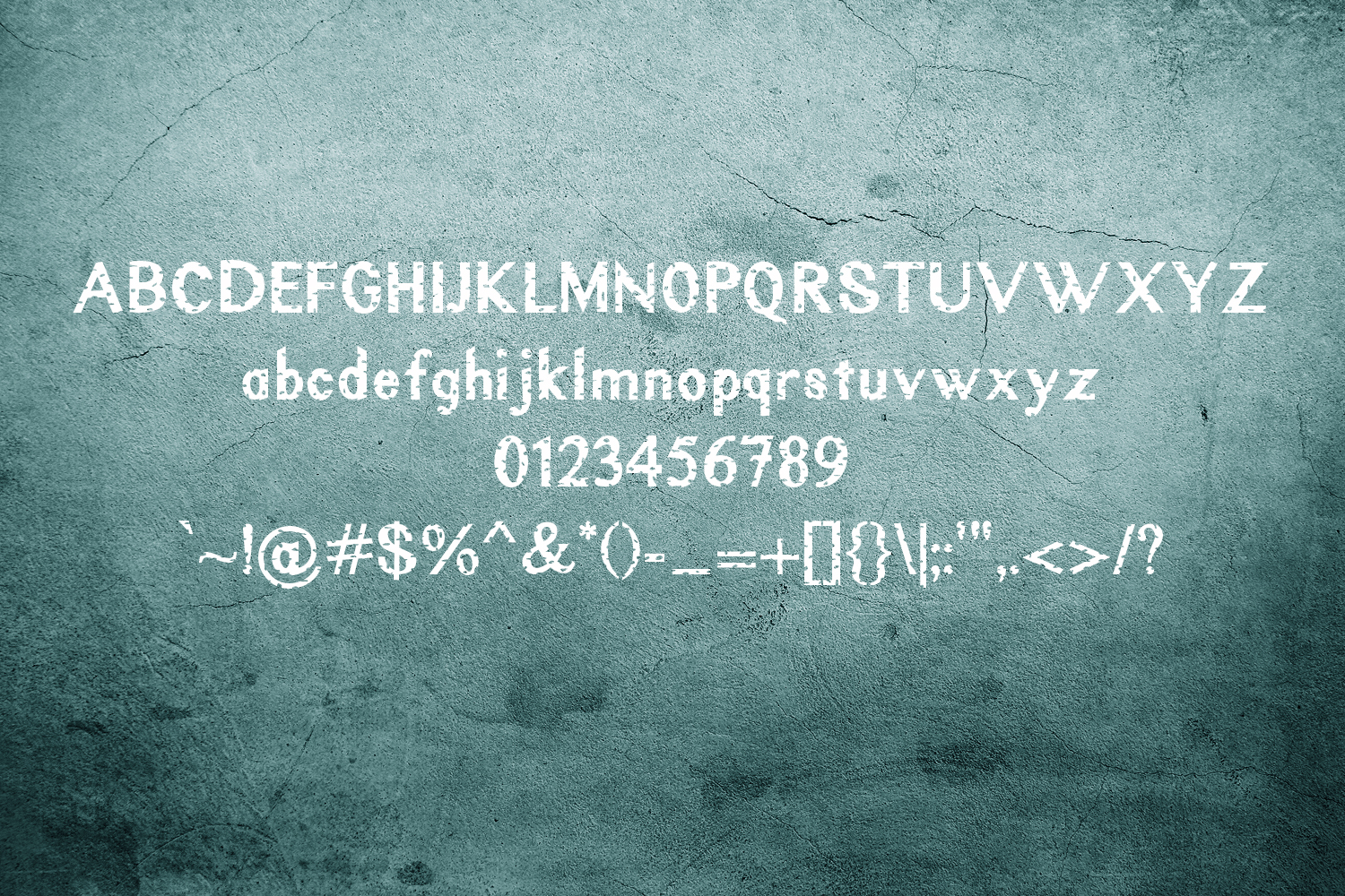 Rustic Oak A Grunge, Solid, and Stencil Font example image 4