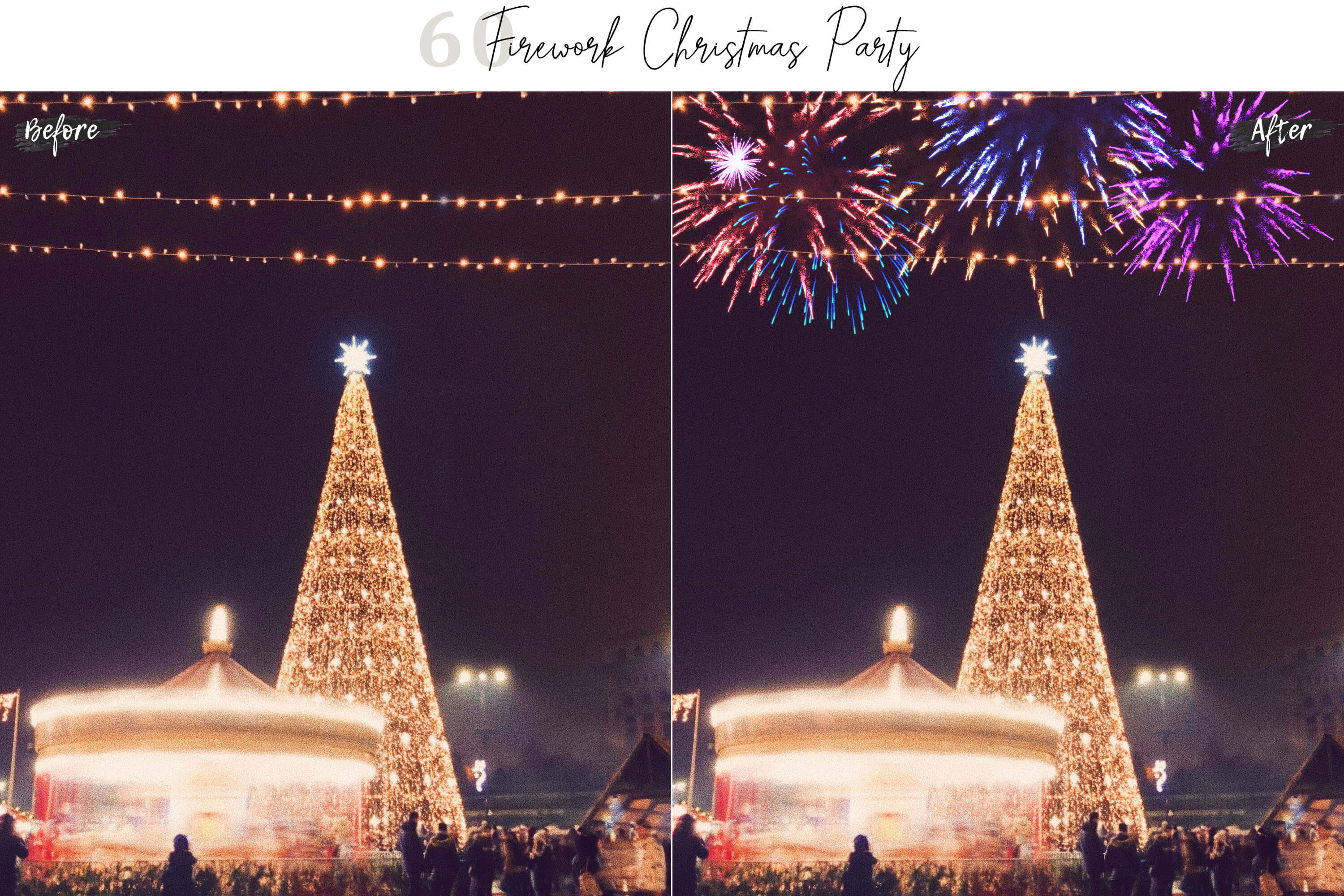 60 Firework Christmas Party Overlays example image 9