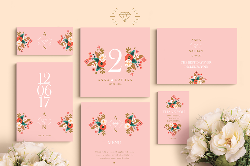Peach Wedding Set example image 1