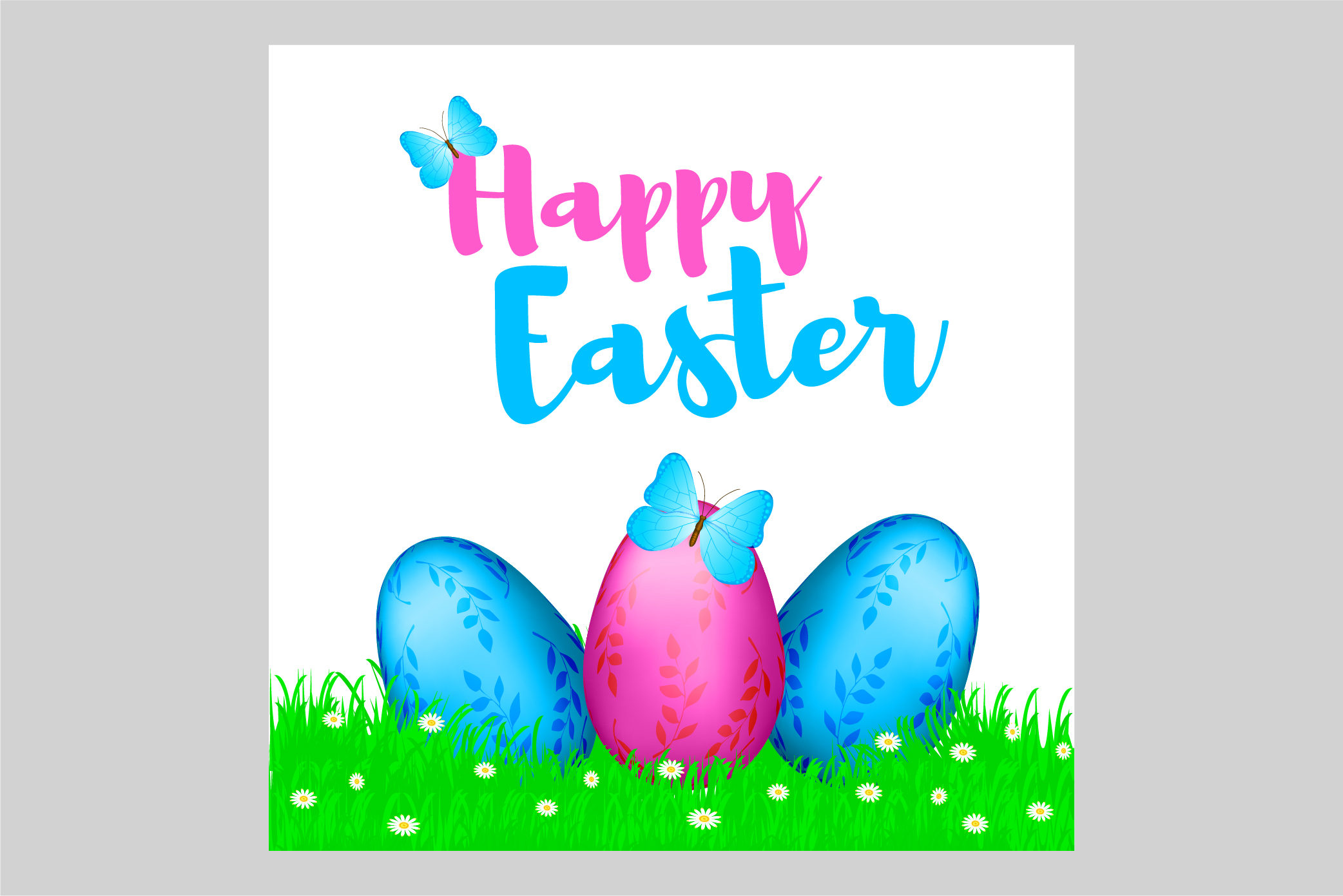 Happy Easter - EPS, Ai, JPG example image 1