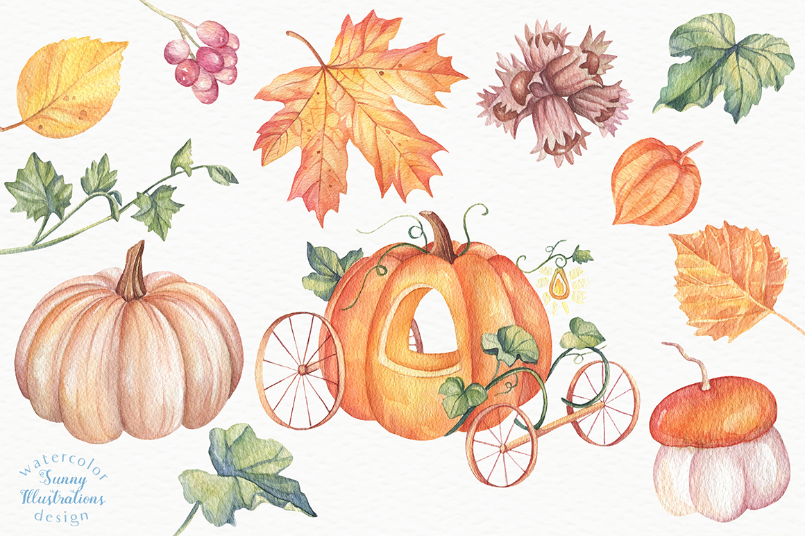 Happy Halloween - Watercolor Set example image 3