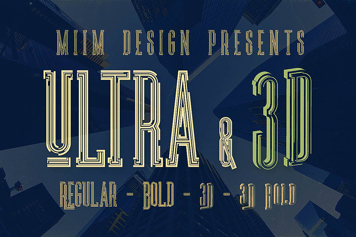 Ultra - Modern Font example image 5