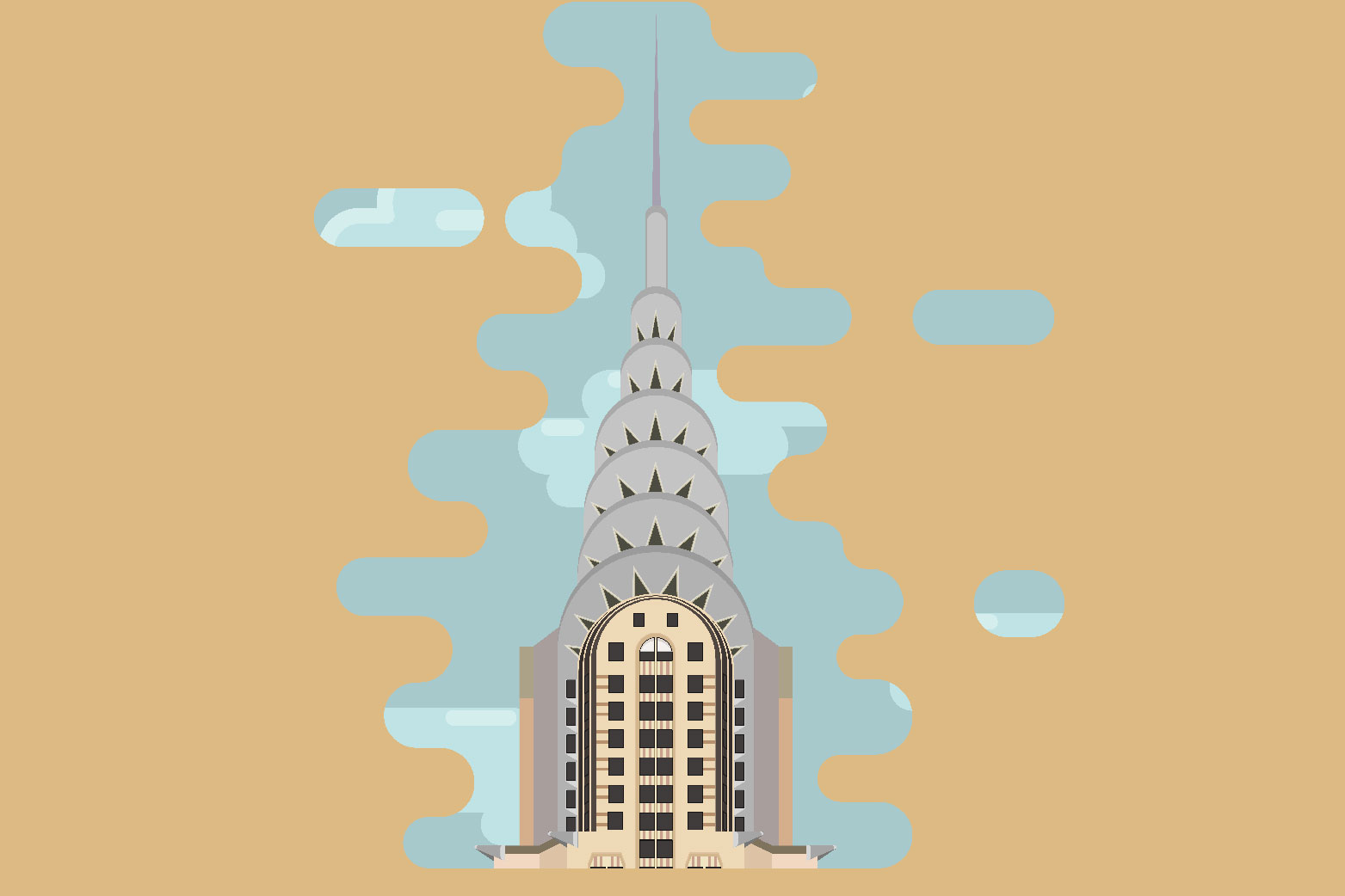 Word wide - Architectural landmarks illustrations example image 5