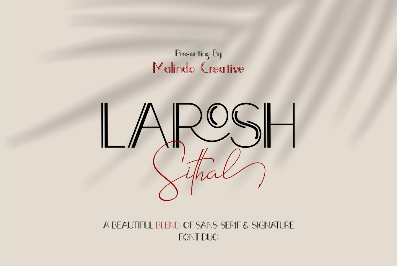 LAROSH Sithal | Font Duo example image 1