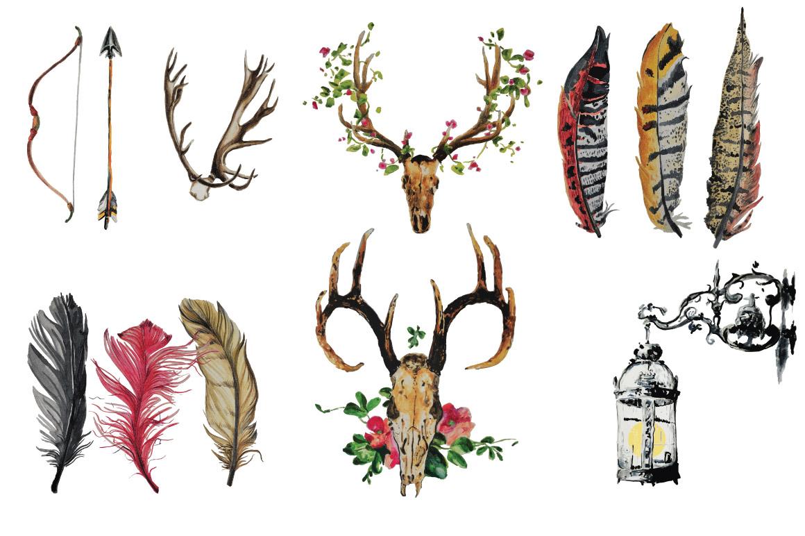 Boho Vibe-Vector Watercolors example image 3