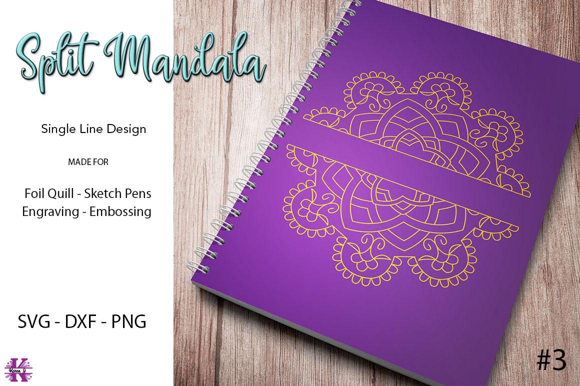 Split Mandala #3 for Foil Quill|Sketch Pen|Engraving example image 1