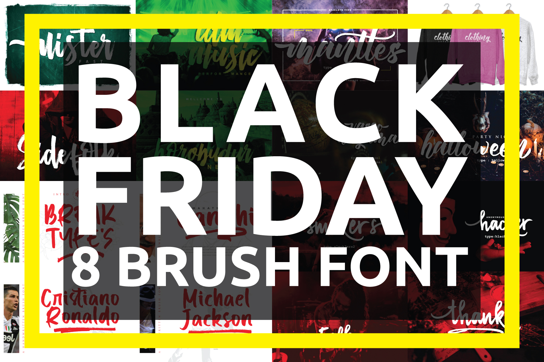 BLACK FRIDAY - 8 BRUSH FONT example image 1
