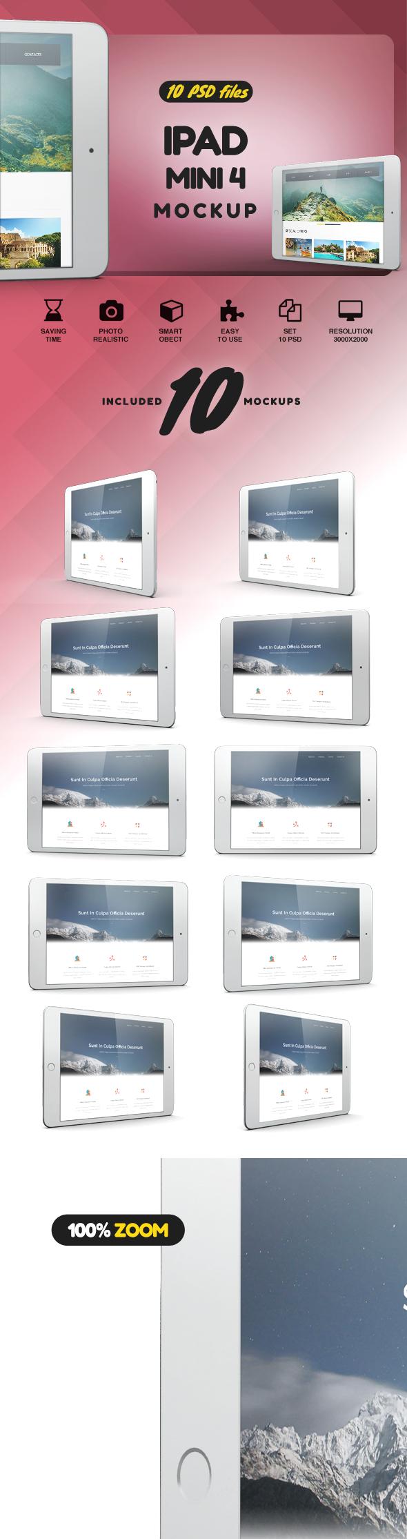 iPad Mini 4 Mockup example image 2
