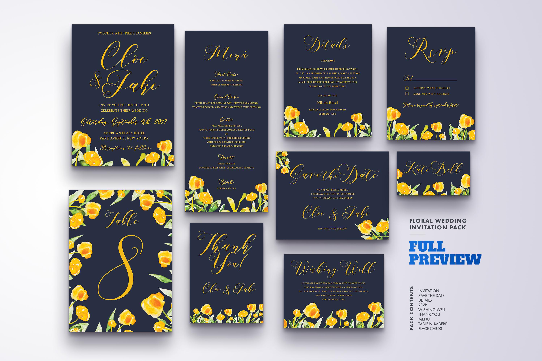 Flower Wedding Invitation Suite Vol.2 / Save Date / Bride example image 2