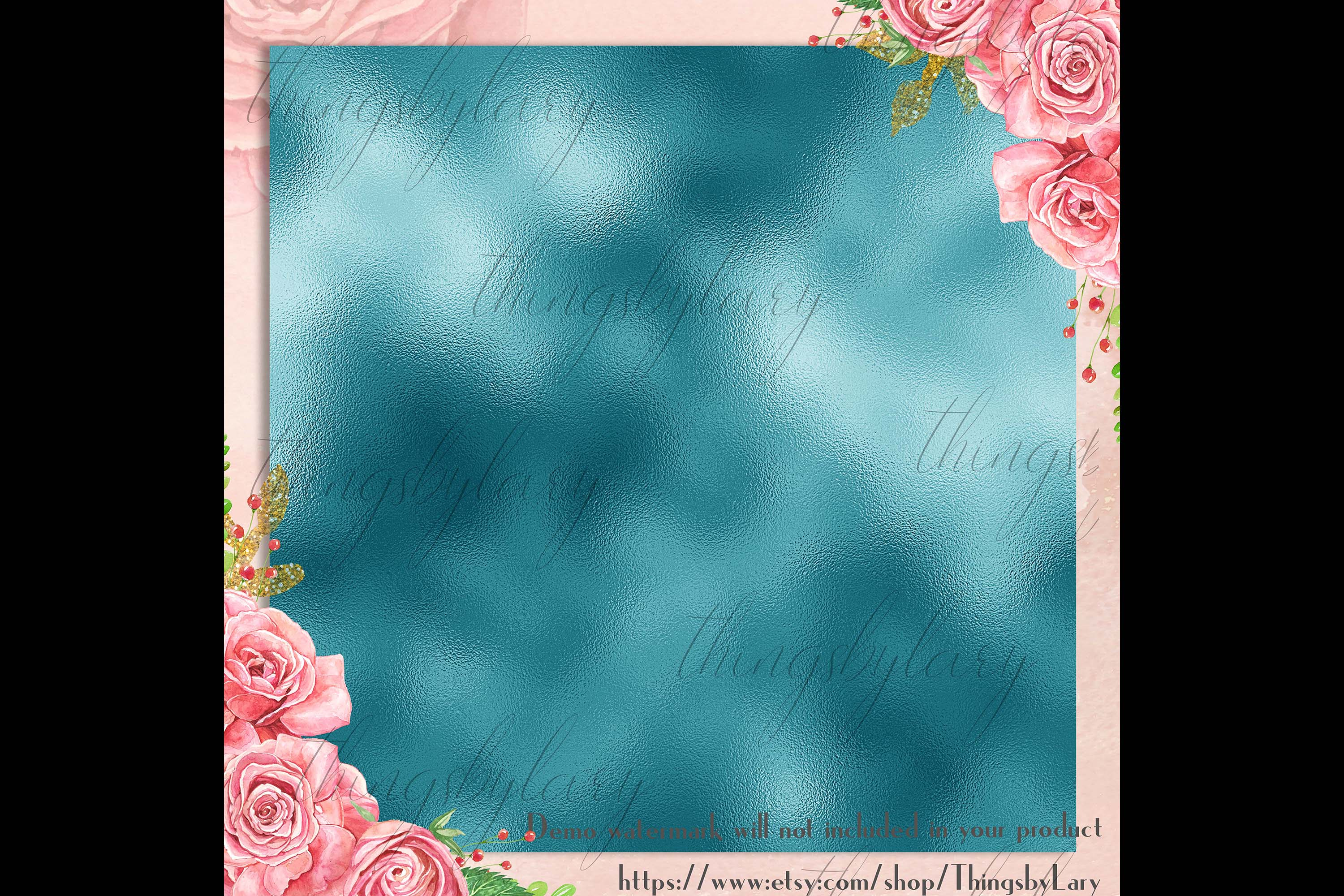254 Soft Color Metallic Foil Texture Printable Digital Paper example image 7