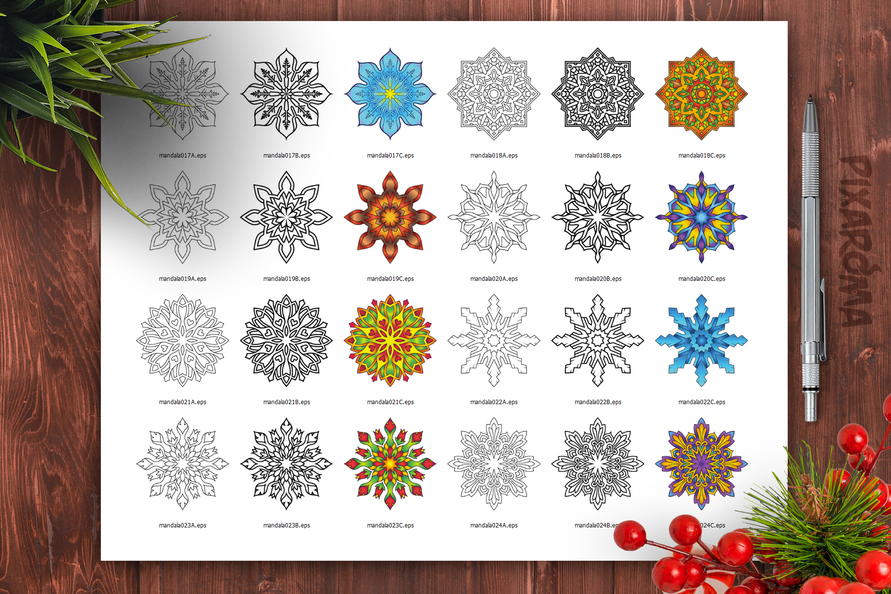 Mandala Vector Ornaments Bundle example image 28