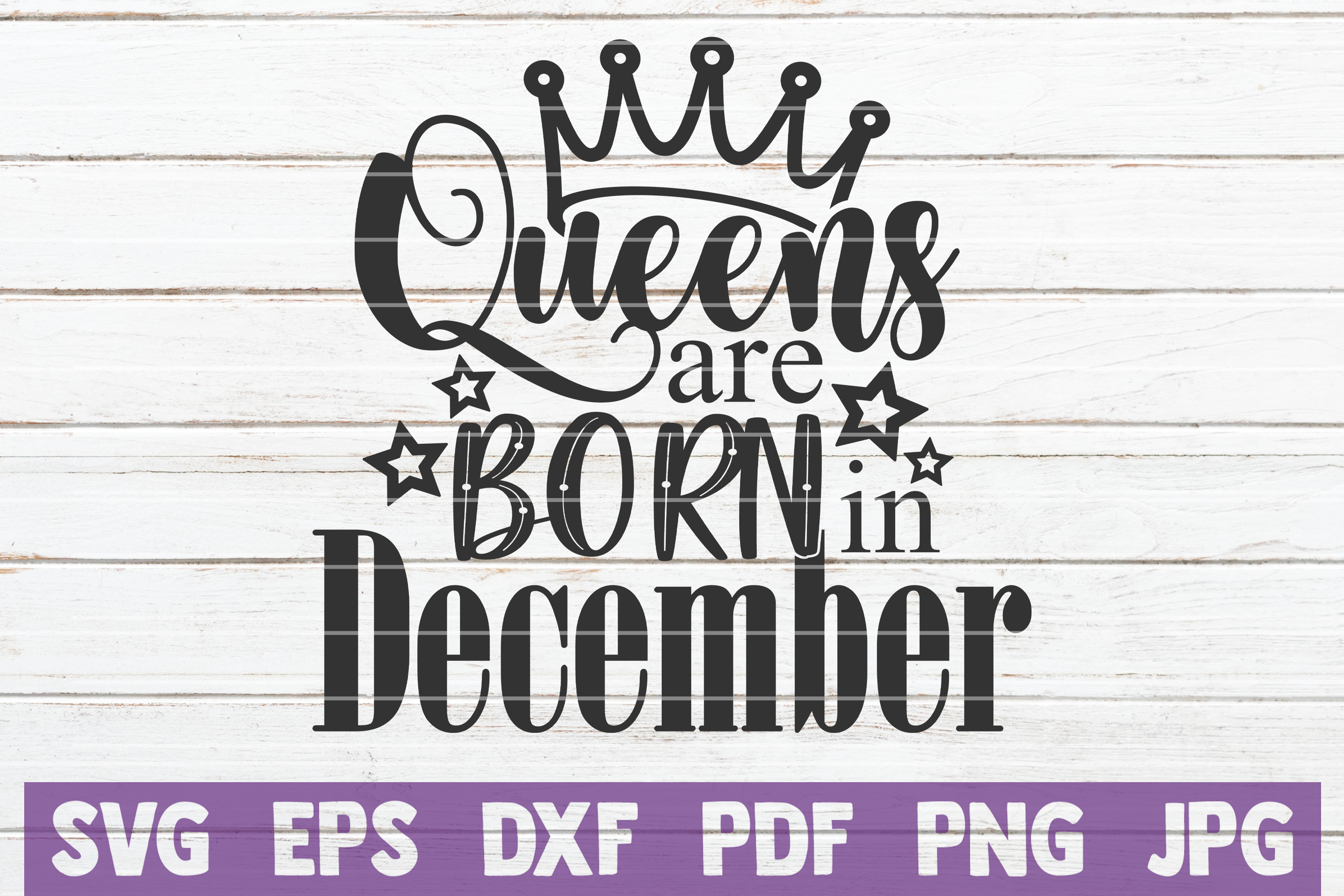 Queens Are Born In ... SVG Bundle | Birthday girl Cut Files example image 4
