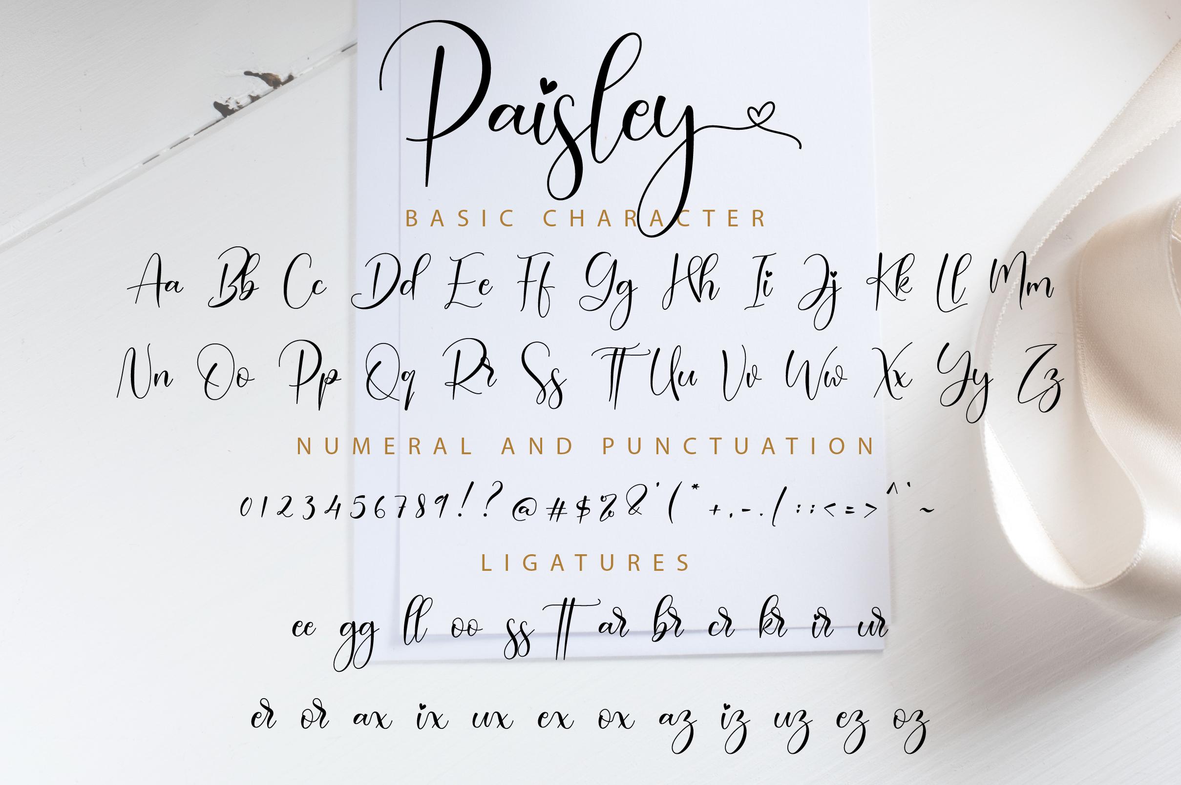 Paisley Script example image 11
