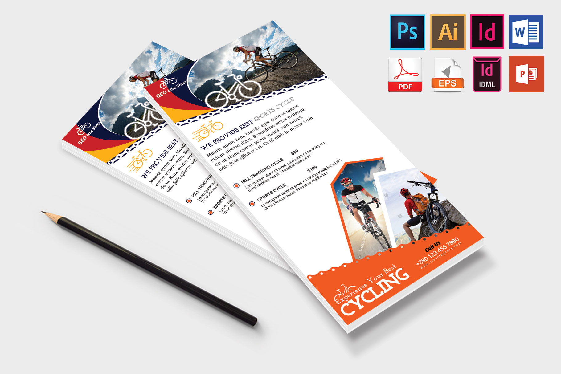 Rack Card | Cycle Shop DL Flyer Vol-02 example image 4