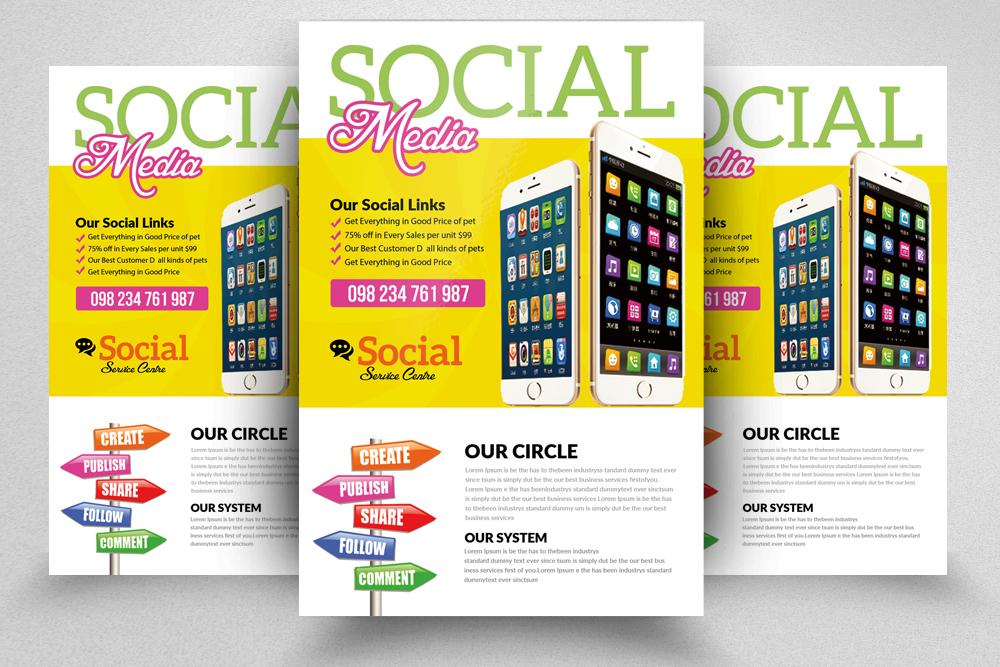 10 social media marketing flyers bundle