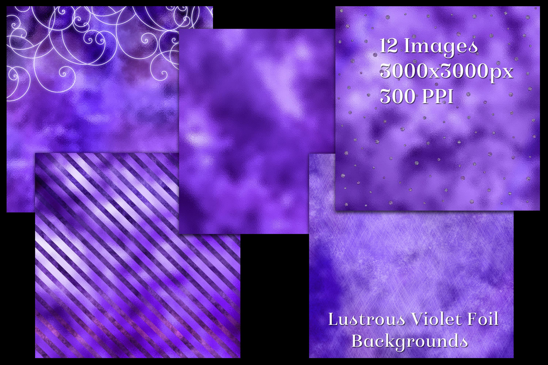 Lustrous Violet Foil Backgrounds - 12 Image Textures Set example image 2