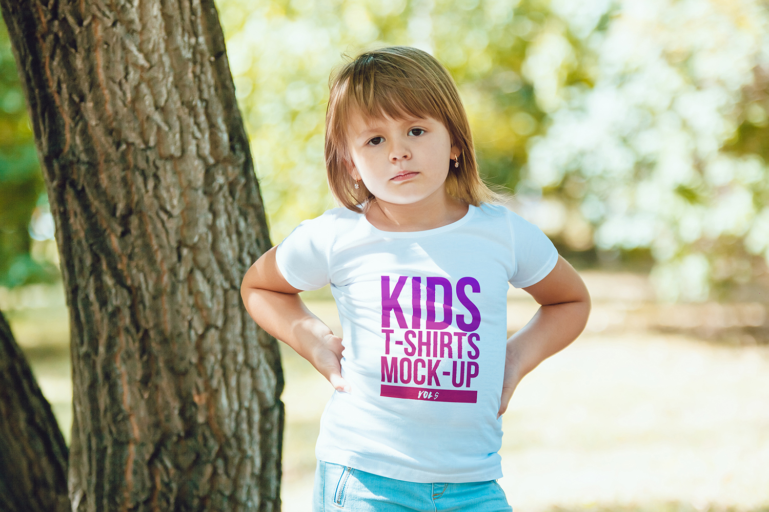 Kids T-Shirt Mock-Up Vol 5 example image 6