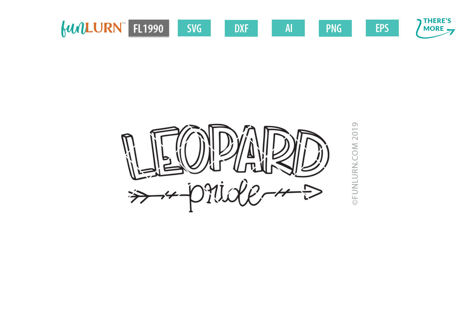 Leopard Pride Team SVG Cut File example image 2