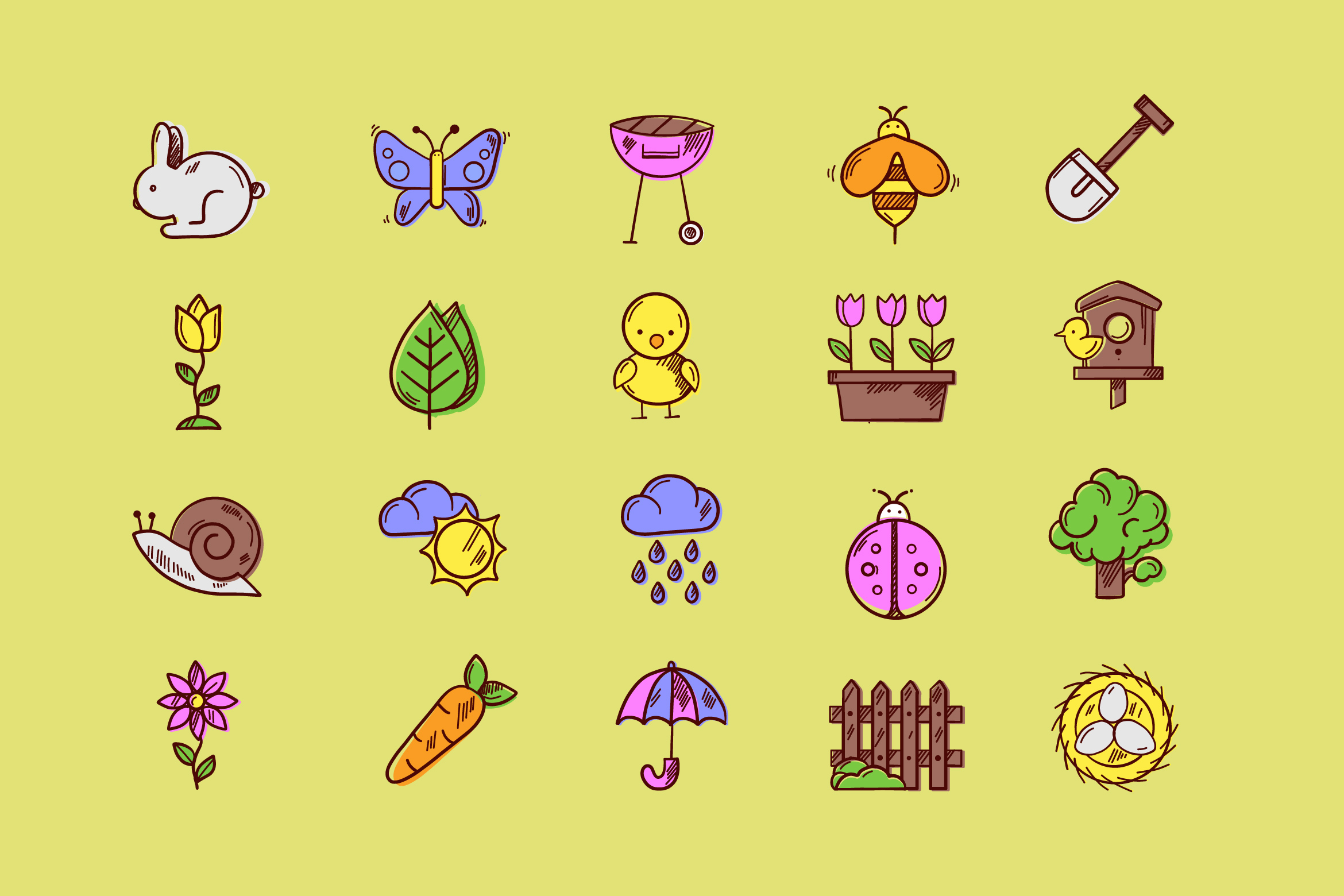 Spring's Here Icons example image 1