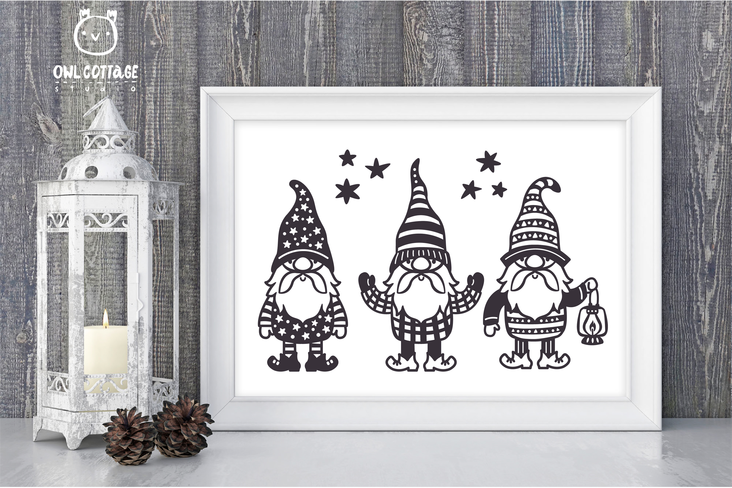 Scandinavian Gnomes SVG, Gnome Clipart, Tomte example image 7
