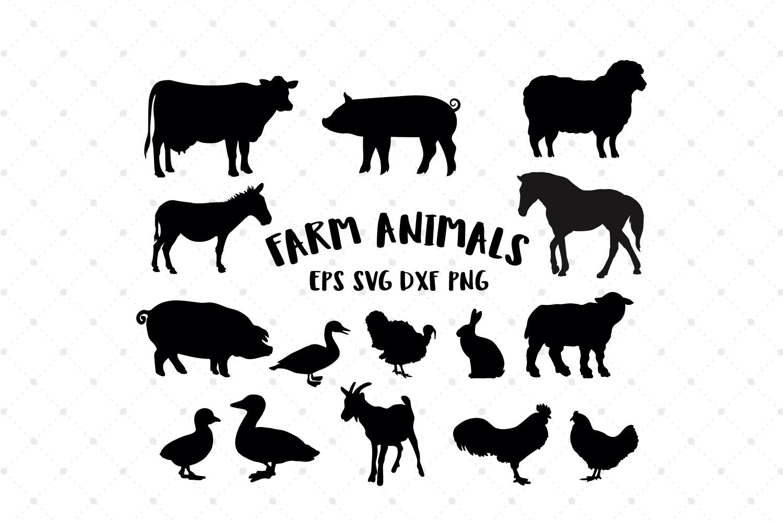 Farm Animals Silhouettes SVG Cut Files (87270) | Cut Files ...